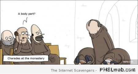 29-charades-a-the-monastery-funny-cartoon